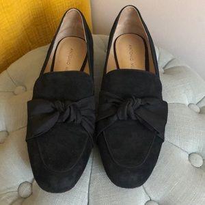 Antonio Melani Black Suede Loafer